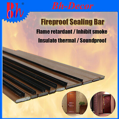 Intumescent Sodium Silicate PVC Casing Door Frame Seals Fireproof Weatherstrips