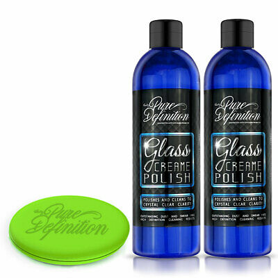 Car Window Cleaner X 2 | Glass Polish | Clear Mirror Finish - Pure Definition ®