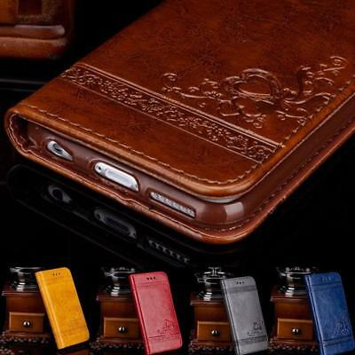 Wallet Case For iPhone 5 5S SE 6 6S 7 Plus Leather Cover Pouch Stand Flip Luxury