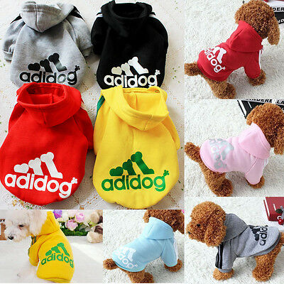 Casual Pet Dog Winter Warm Adidog Hoodie Coat Jacket Clothes Clothing XS-XXL