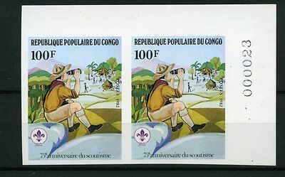 1982 Congo Scout Imperforated Mnh Yvert 663/66 E446