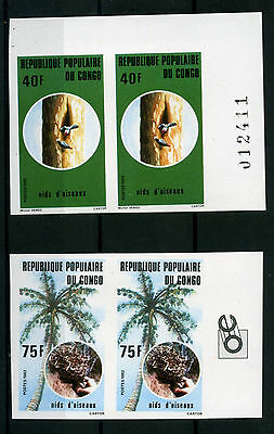 1982 Congo Birds , Uccelli , Imperforated Mnh Yvert 688/90 E451