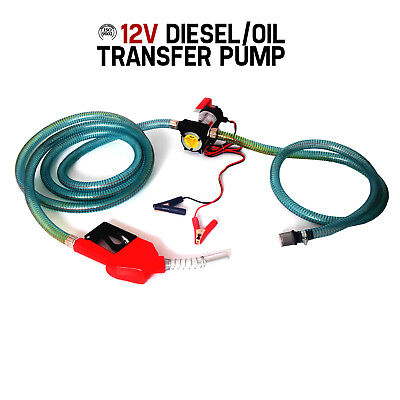 12V DC Bowser Oil Transfer Pump Auto Diesel Water Electric BioDiesel Fuel