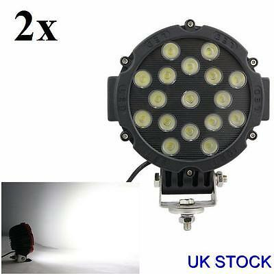4x POWERFUL FRONT BULL NUDGE BAR /& SPOT SMD LED LIGHTS 12V DAY LAMP CAR SUV 4x4