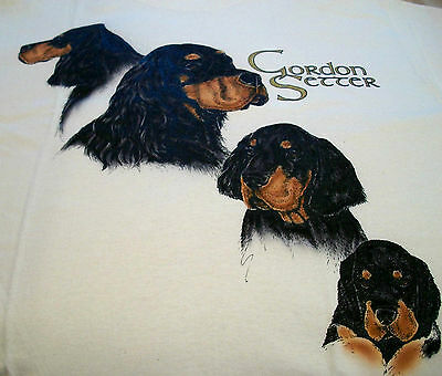 "Gordon Setter T-shirt  "" White ""  2XL ( 50 ~ 52 )"