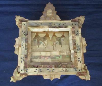 Jerusalem School Mother of Pearl Icon of the Last Supper, circa 1900`s