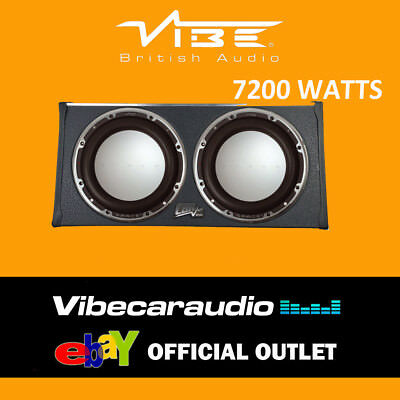 """Vibe SPACE CBRS15T Twin Vented 15"""" 7200W Passive Enclosure SPL Bass Subwoofer"""