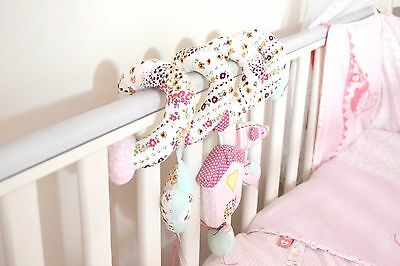MAMAS & PAPAS Made With Love Miss Ribbons Quilt, Bumper & Spiral Toy Nursery Set