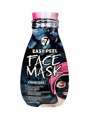 W7 Easy Peel Face Mask Deep Clean Peel-Off Black Mask Charcoal 10g