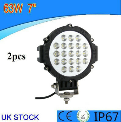 POWERFUL 63W FRONT BULL NUDGE BAR SPOT SMD LED LIGHTS 12V DAY LAMP CAR SUV 4x4