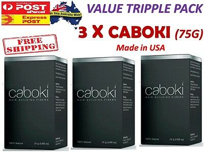 3 X CABOKI Hair Building Fibers Thickner Concealer Hair Loss Treatment - GENUINE