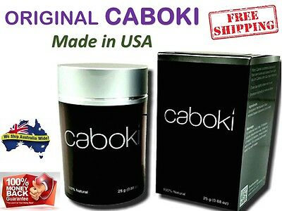 CABOKI Hair Building Fibers Thickner Concealer Hair Loss Treatment -GENUINE