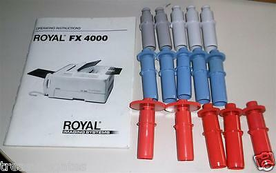 6 donor film refill rolls for Royal FX 4000 fax copier with manual & extra gears