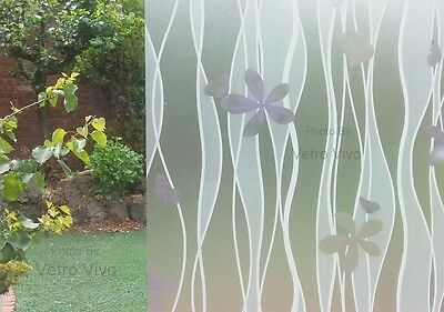 90 CM x 1 M - Frangipani  Removable Frosted Window Glass Film for privacy