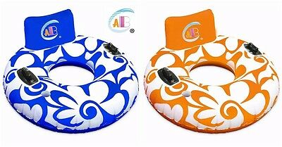 Swimming Inflatable Lilo Doughnut Ring - Water/Beach/Pool Float - Chair