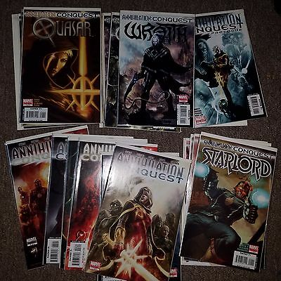 Annihilation Conquest Lot - Complete Series Set w/#s 1-6 + Many Tie-Ins, Groot