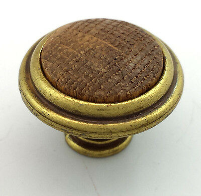 Belwith Knob Brass Wood Insert Cabinet Cupboard Door Drawer Dresser Hardware
