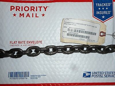 """9/32"""" grade 100 alloy overhead lifting chain 50 foot"""