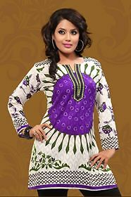 New Indian/pakistani Designer Tunic/top Bhuta Cotton Kurta/kurti