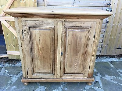Very Early Antique Victorian Pine Kitchen/larder/school/cupboard