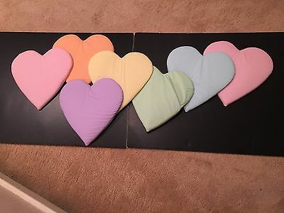 Vintage Soft Wall Hanging-String of Hearts-New-Perfect in any room-Child, Dorms!