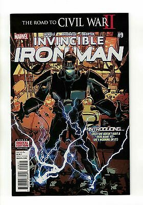 Invincible Iron Man Vol. 2 - #9 | 1st Print Riri Williams Appearance Marvel !!!!