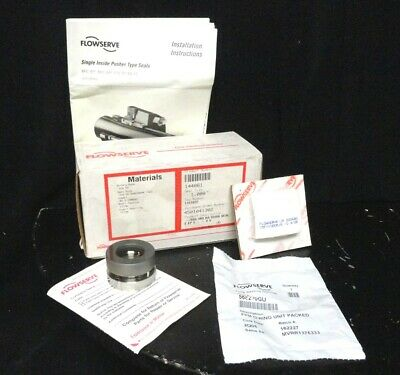 """New Genuine FLOWSERVE Single INSERT RA DURA SEAL 1.00""""  144061 316 SS New in Box"""