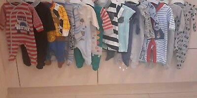 Newborn Baby Boys Large Clothes Bundle All Mixed Brands