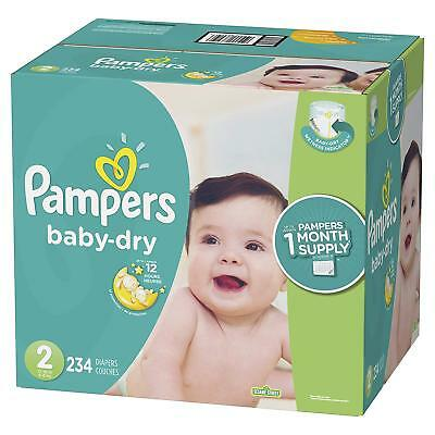 ***NEW*** Pampers Baby Dry Diapers Size 2, 222 Count ***FREE SHIPPING***