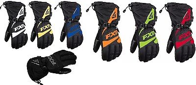 "Fxr ""fuel"" Gloves Snowmobile Reflective Waterproof Mens - Choose Size & Color"