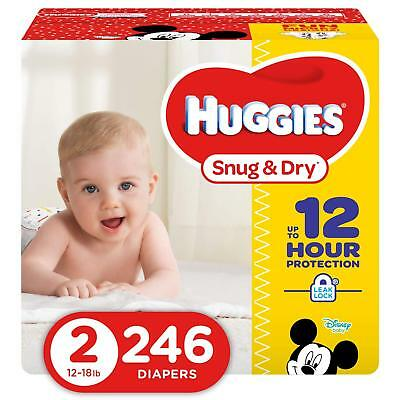 ***NEW*** Huggies Snug & Dry Diapers Size 2, 246 Count ***FREE SHIPPING***