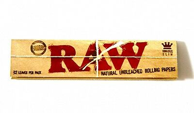 Raw Classic King Size Slim Natural Rolling Papers Quality Papers Wiz Khalifa