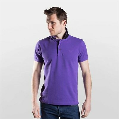 Townend Brucester Polo Shirt - Purple/Black - Small - Horse Equestrian Shirts
