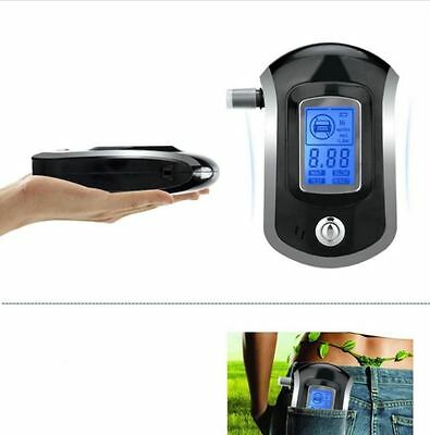 Compact accurate breathalyzer alcohol tester digital lcd display w/5 mouthpieces