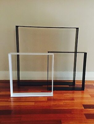 Steel Bench leg asst Sizes Powder Coated or Raw Steel -Industrial Chic