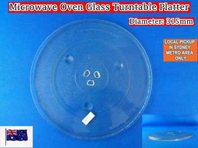 Microwave Oven Spare Parts Glass Turntable Platter Replacement 31.5cm (C)