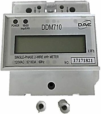 DAE DDM710 120V kWh Meter, 100 Amp, Internal CT, 60 Hz, Hot Wire Pass Through