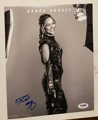 RONDA ROUSEY UFC EXPENDABLES 3 SIGNED 8 x 10 INCH Photo PSADNA COA Buy Genuine