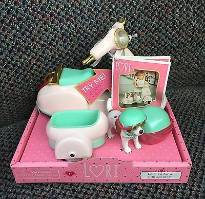 """NEW! Lori Doll Lets go for a Spin Scooter w light & radio for 6"""" doll"""