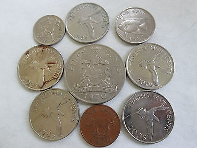 Bermuda Coins Lot Of 9, Assorted Years And Denominations, Vf/xf, Circulated