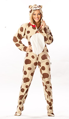 """Dog """"Doggie"""" Puppy Unisex Adult Sized Footed Hoodie Costume Cosplay Pajamas"""