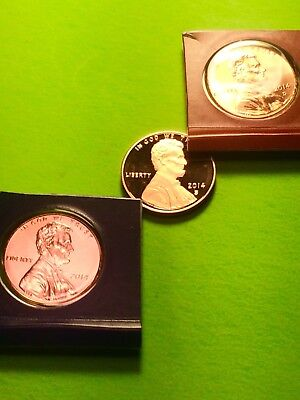 2014-P & D Lincoln Shield Cent With Gem Deep Cameo Proof 2014-S