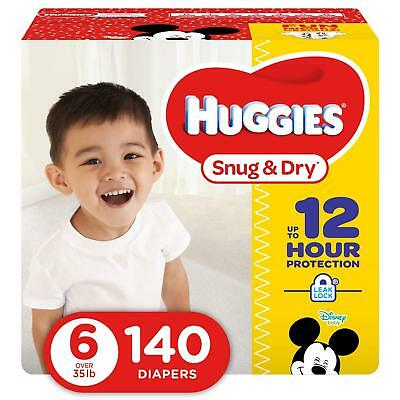 ***NEW***Huggies Snug & Dry Diapers Size 6, 140 Count ***FREE SHIPPING***