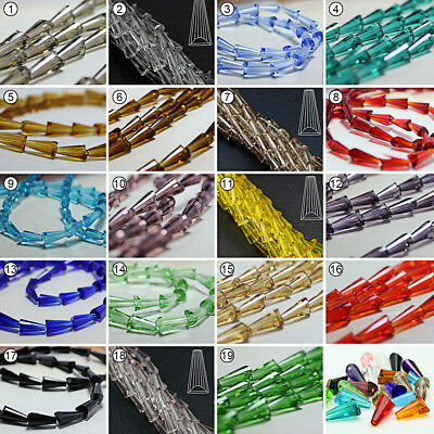 50/100pcs Mixed Color Loose Beads Synthetic Crystal Gemstone Tower Shape