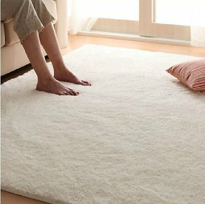 4'x5' Shaggy Rug and Carpet for Home Bedroom Super Soft Silk Wool Rug and Carpet