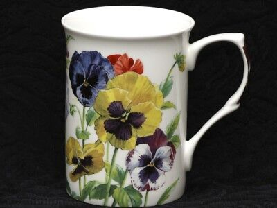 STECHCOL GRACIE MULTICOLOR PANSIES Bone China Cylinder Mug