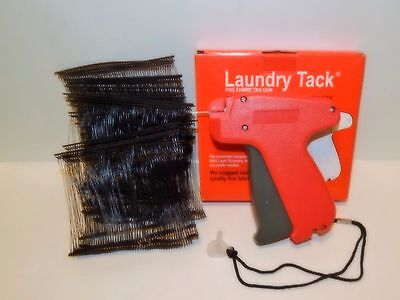 FINE CLOTHING PRICE LABEL TAGGING TAGGER GUN w/ 1000 black barbs FASTENER 3""