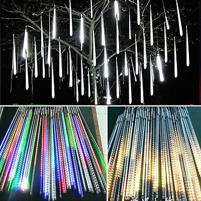 80/144/240 LED Meteor Rain-Drop String Tubes Lights Xmas Tree Decor Outdoor Bulb