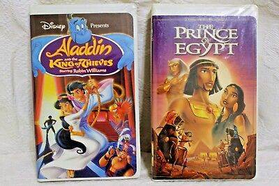 Walt Disney Aladdin and the King of Thieves, Dreamworks The Prince of Egypt VHS