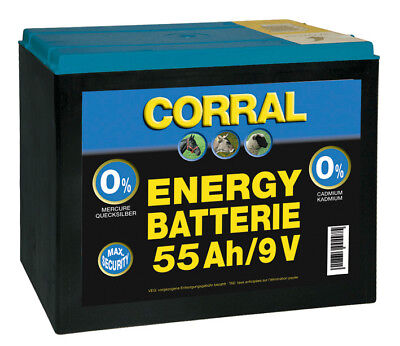Corral Zinc-Carbon 55 Ah Dry Battery 9V Livestock Equine Fencing Horse Cattle